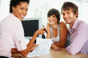couple consulting a debt professional
