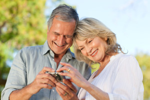couple looking at calculator