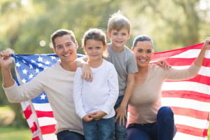 beautiful modern american family