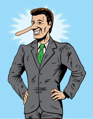 Lying salesman or businessman