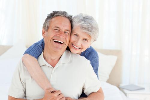 senior couple inside their house