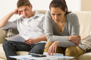 couple analyzing finances