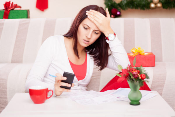 woman reduce stress by using debt relief firm to relieve holiday debt